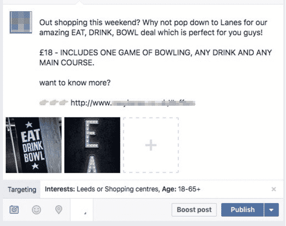 using facebook to market a bar